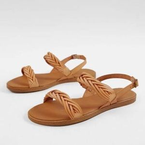 Free People Sang Leather Sandals In Tan